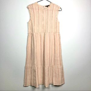 Anthropologie Love Sam Striped Cotton Midi Dress